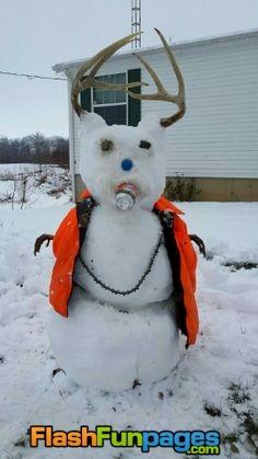 redneck snowman
