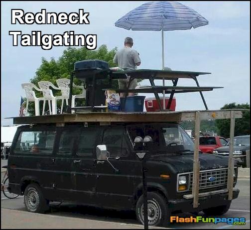 redneck tailgating