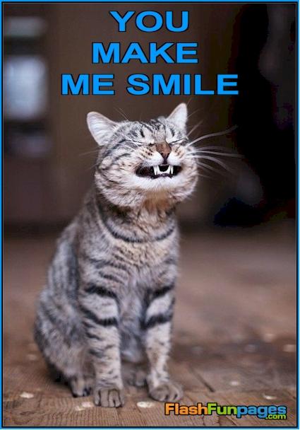 You Make Me Smile | Ecards for Facebook