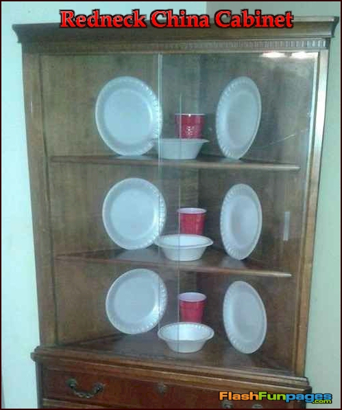 redneck China cabinet