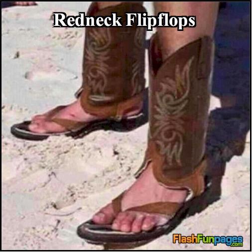 redneck flipflops