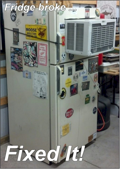 funny pic of fixed fridge