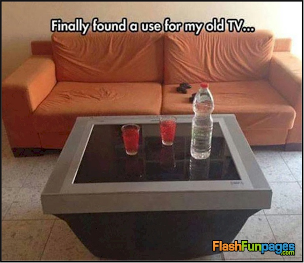 redneck coffee table
