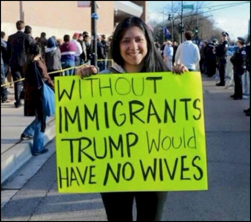 Trump's wife sign